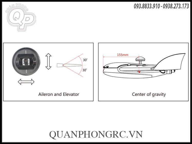 Kingkong Ldarc Thunder 600x 656mm Wingspan Epo Rc Airplane Pnp Fpv